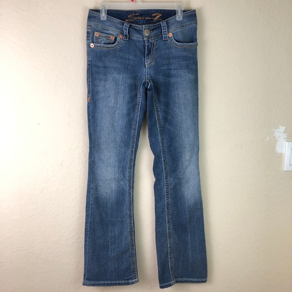 7 For All Mankind Denim - 7 for all Mankind Jeans Boot Flare Sz 4 Mid Ri